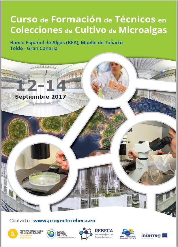 Curso de formación de Técnicos en colecciones de cultivo y microalgas